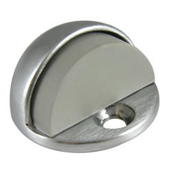 "Chrome-Plated Brass Floor-Mounted Door Stop with 1/2"" Offset"
