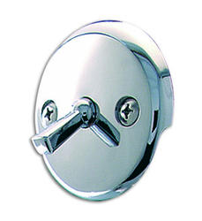Plumb Works Chrome-Plated Overflow Faceplate with Lever