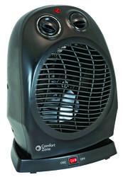 Comfort Zone Oscillating Heater Fan