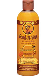 Howard Feed-N-Wax Wood Polish and Conditioner - 1 pt.