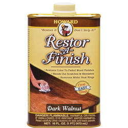 Howard Restor-A-Finish Dark Walnut Wood Finish Restorer - 1 pt.