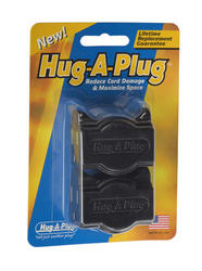 Hug-A-Plug™ Black Twin Outlet Adapter