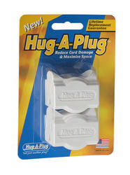Hug-A-Plug™ White Twin Outlet Adapter