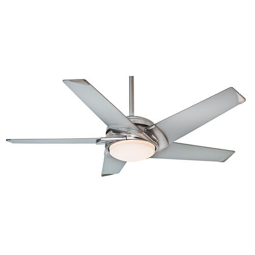 "Casablanca Stealth 54"" Brushed Nickel LED Ceiling Fan At"