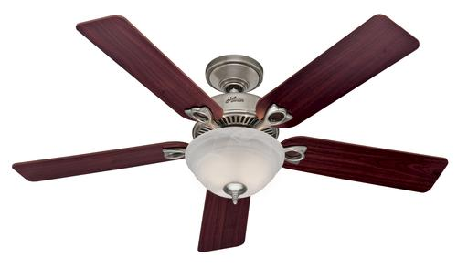 hunter dominion 52 brushed nickel ceiling fan at menards