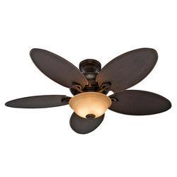 """Hunter Cape Breton 52"""" Brush Cocoa Outdoor Ceiling Fan"""