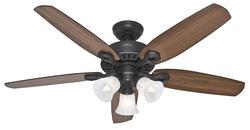 """Hunter Builder Plus 52"""" New Bronze Ceiling Fan"""