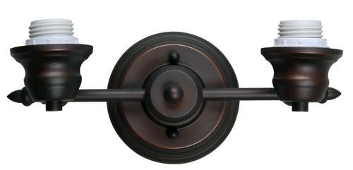 """Oil Rubbed Bronze Bathroom Vanity Ceiling Lights: Lexi Mix And Match 2-Light 11-1/2"""" Oil Rubbed Bronze"""