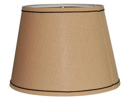 "15"" Taupe Tapered Drum Lamp Shade"
