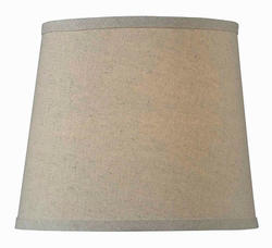 "10"" Taupe Linen Tapered Drum Lamp Shade"
