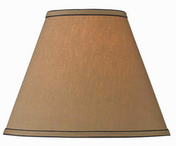 "14"" Dark Taupe Tapered Drum Lamp Shade"