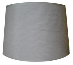 "15"" White Tapered Drum Lamp Shade"
