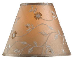 "14"" Taupe Embroidered Shade"