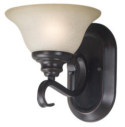 Welles 1 Light Sconce-Oil Rubbed Bronze Finish