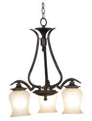 Bienville 3 Light Chandelier-Oil Rubbed Bronze Finish