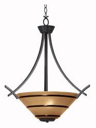 Wright 3 Light Oil Rubbed Bronze Pendant