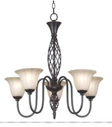 Chequers 5 Light Chandelier