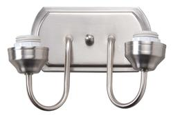 "Leon Mix and Match 2-Light 12"" Brushed Nickel Vanity Light"