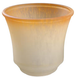 Mix and Match Stepped Amber Edge Glass Shade