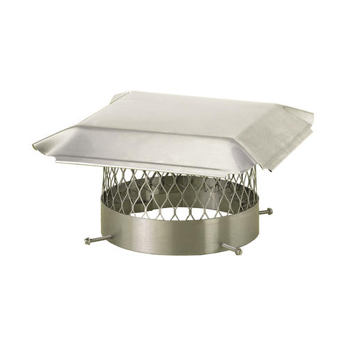 Hy C 10 Quot Round Stainless Steel Chimney Cover At Menards 174