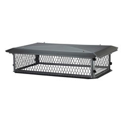 "HY-C 15"" x 37"" Black Galvanized Big Top (10"" Height)"
