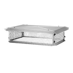 "HY-C 17"" x 41"" Stainless Steel Hinged Big Top (14"" Height)"