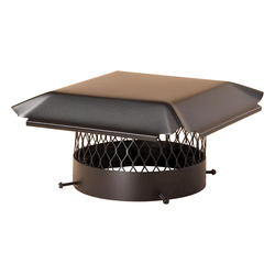 "HY-C 10"" Round Black Galvanized Bolt-On Chimney Cap"