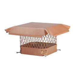"HY-C 9"" x 18"" Copper Chimney Cover"