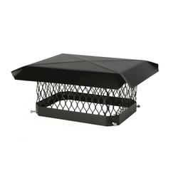 "Shelter 9"" x 18"" Black-Painted Galvanized Chimney Cover"