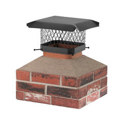"Shelter 9"" x 9"" Black-Painted Galvanized Chimney Cover"