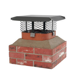 Shelter Adjustable Small Galvanized Chimney Cover