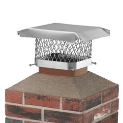 "Shelter 9"" x 13"" Stainless Steel Chimney Cover"