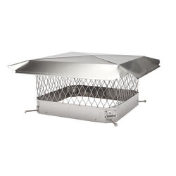 "HY-C 18"" x 18"" Stainless Steel Chimney Cover"