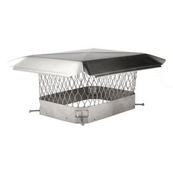 "HY-C 9"" x 13"" Stainless Steel Chimney Cover"