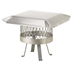"""HY-C 14"""" Round Stainless Steel Chimney Cover"""