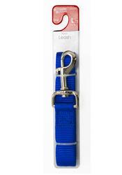 "Masterpaws® 1"" x 5' Blue Nylon Leash"