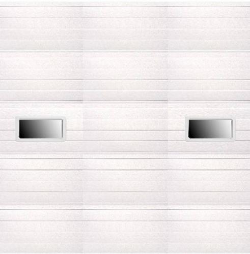 Ideal door 10 ft x 10 ft 5 star white ribbed 2 lite for 10 ft garage door opener