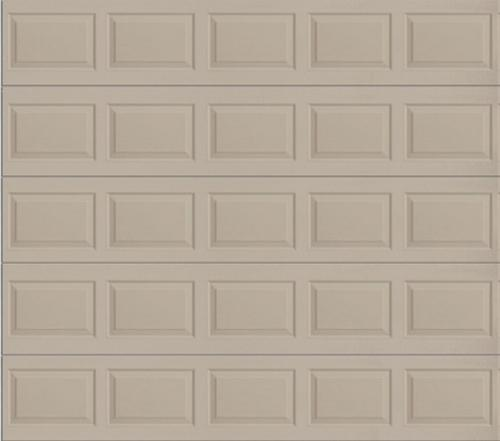 Ideal door 10 ft x 10 ft 4 star sandtone raised pnl for Ideal garage doors