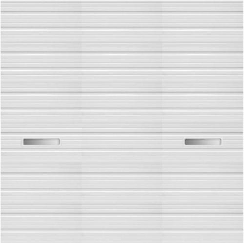 Ideal door 14 ft x 14 ft 4 star white deep ribbed 2 for 14 ft wide garage door