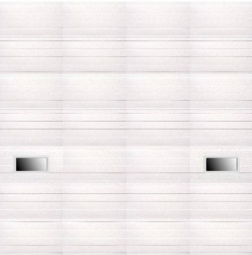 Ideal door 14 ft x 14 ft 5 star white ribbed 2 lite for 12 x 14 garage door