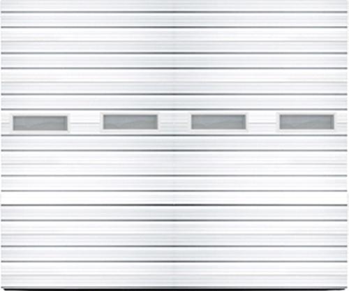 Ideal door 14 ft x 14 ft 3 star white deep ribbed for 14 x 8 garage door