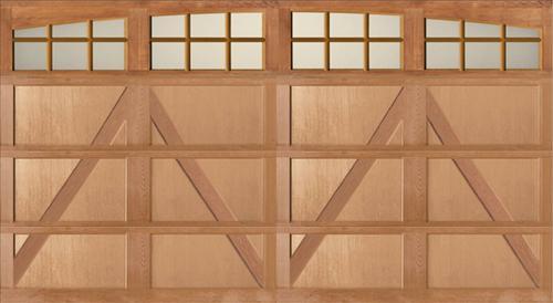 Ideal door arch3 lites carriage house wood mh6h 16 ft x for 16 ft x 8 ft garage door