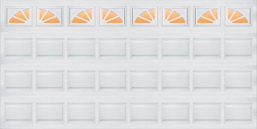 Ideal Door 174 Sherwood 16 Ft X 7 Ft 5 Star White Raised