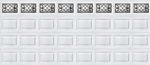 Ideal door 16 ft x 7 ft 5 star white tuscany short pnl for 16 foot insulated garage door prices