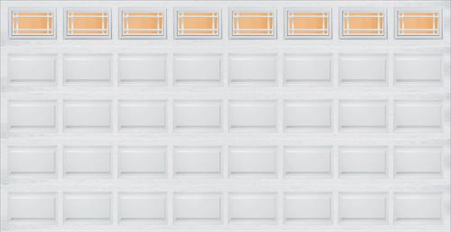 Ideal door prairie 16 ft x 8 ft 5 star white raised pnl for 16 foot insulated garage door prices