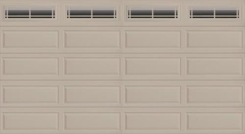Ideal door prairie 16 ft x 8 ft 4 star sandtone insul for 16x8 garage door price