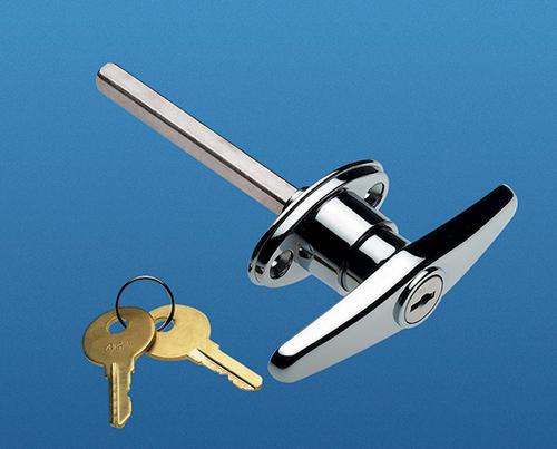 Ideal door side keyed t handle lock for overhead garage for Ideal door parts