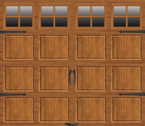 Ideal Door 174 9 Ft X 7 Ft Medium Oak Steel Carriage House