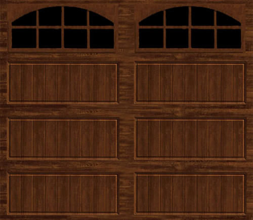 Ideal Door 174 9 Ft X 7 Ft Walnut Long Pnl Carriage House