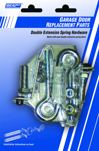 Ideal door double extension spring parts at menards for Garage door springs menards